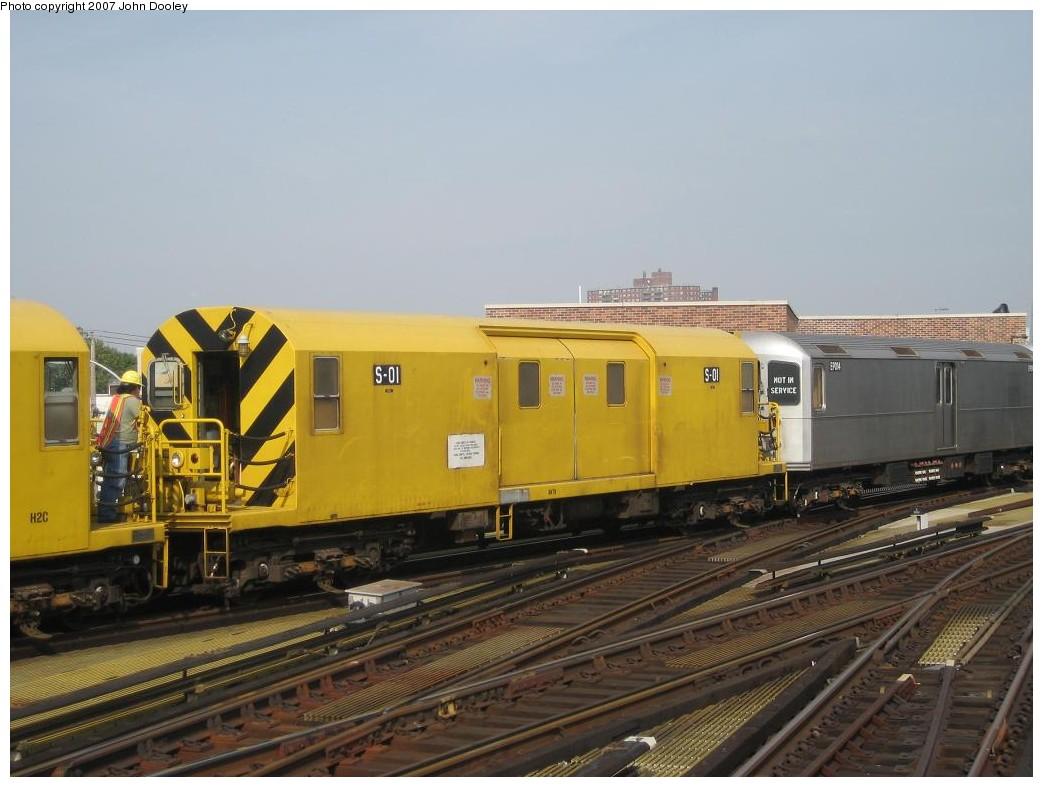 (171k, 1043x787)<br><b>Country:</b> United States<br><b>City:</b> New York<br><b>System:</b> New York City Transit<br><b>Location:</b> Coney Island/Stillwell Avenue<br><b>Route:</b> Work Service<br><b>Car:</b> R-74 Signal Supply (Fuji Heavy Industries, 1984)  01 <br><b>Photo by:</b> John Dooley<br><b>Date:</b> 10/18/2007<br><b>Viewed (this week/total):</b> 1 / 2599