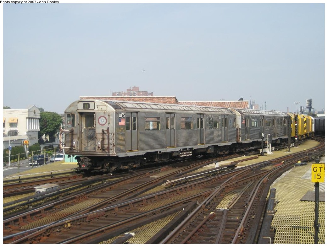 (202k, 1043x787)<br><b>Country:</b> United States<br><b>City:</b> New York<br><b>System:</b> New York City Transit<br><b>Location:</b> Coney Island/Stillwell Avenue<br><b>Route:</b> Work Service<br><b>Car:</b> R-38 (St. Louis, 1966-1967)  4055 <br><b>Photo by:</b> John Dooley<br><b>Date:</b> 10/18/2007<br><b>Viewed (this week/total):</b> 0 / 2317