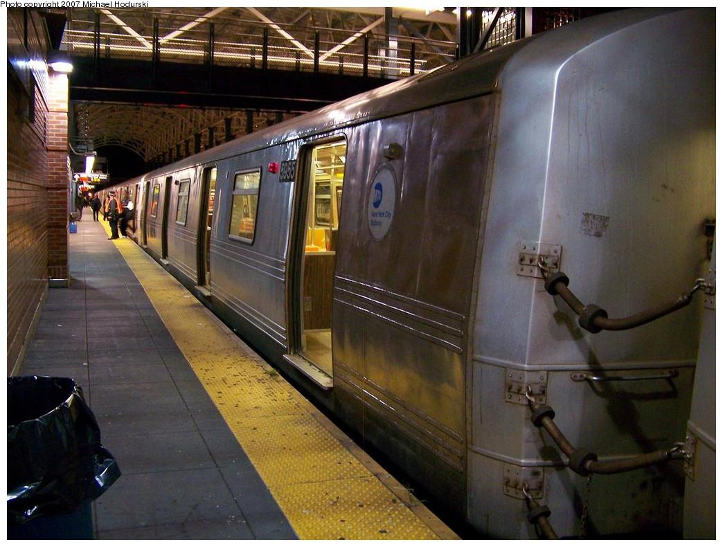 (228k, 1044x790)<br><b>Country:</b> United States<br><b>City:</b> New York<br><b>System:</b> New York City Transit<br><b>Location:</b> Coney Island/Stillwell Avenue<br><b>Route:</b> N<br><b>Car:</b> R-46 (Pullman-Standard, 1974-75) 5955 <br><b>Photo by:</b> Michael Hodurski<br><b>Date:</b> 11/2/2007<br><b>Viewed (this week/total):</b> 1 / 2203