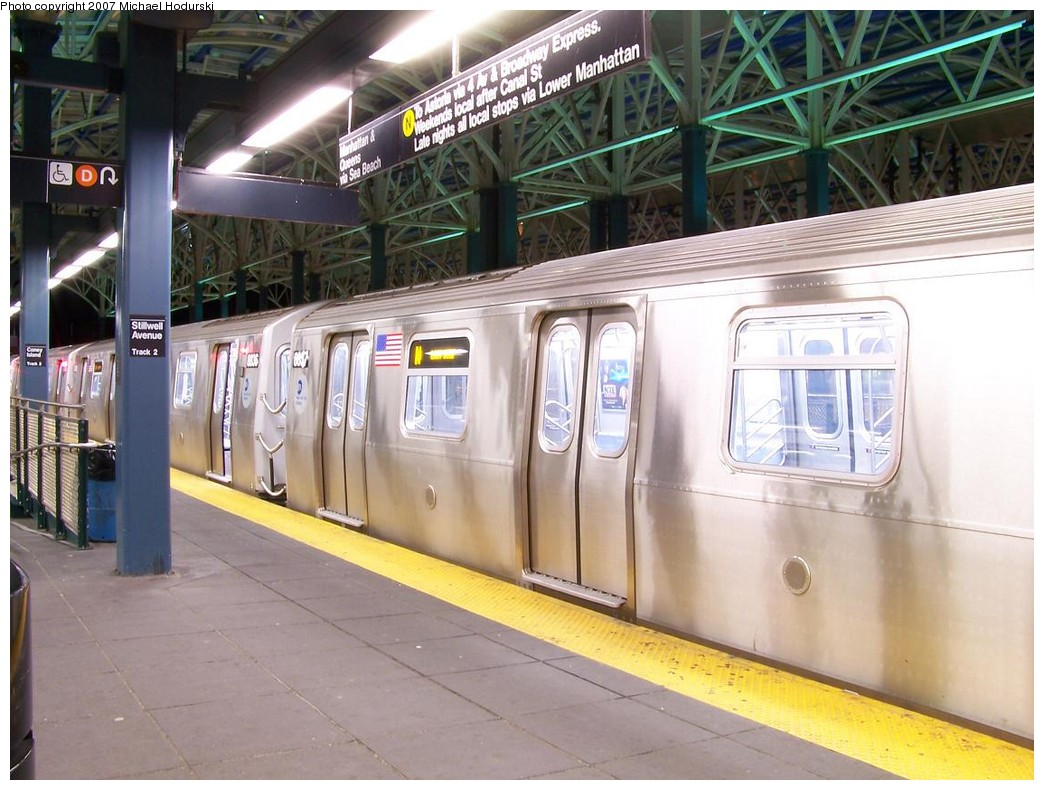 (216k, 1044x790)<br><b>Country:</b> United States<br><b>City:</b> New York<br><b>System:</b> New York City Transit<br><b>Location:</b> Coney Island/Stillwell Avenue<br><b>Route:</b> N<br><b>Car:</b> R-160B (Kawasaki, 2005-2008)  8837 <br><b>Photo by:</b> Michael Hodurski<br><b>Date:</b> 11/2/2007<br><b>Viewed (this week/total):</b> 0 / 2108