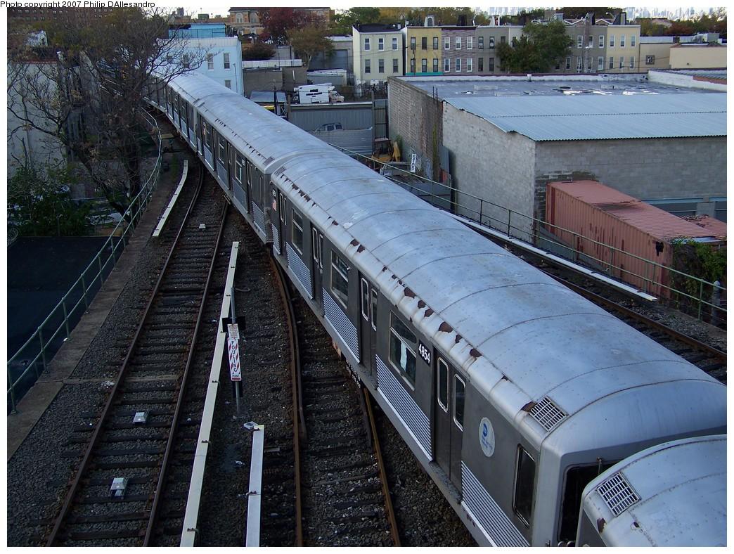 (301k, 1044x788)<br><b>Country:</b> United States<br><b>City:</b> New York<br><b>System:</b> New York City Transit<br><b>Location:</b> East New York Yard/Shops<br><b>Car:</b> R-42 (St. Louis, 1969-1970)  4854 <br><b>Photo by:</b> Philip D'Allesandro<br><b>Date:</b> 11/6/2007<br><b>Viewed (this week/total):</b> 1 / 1954
