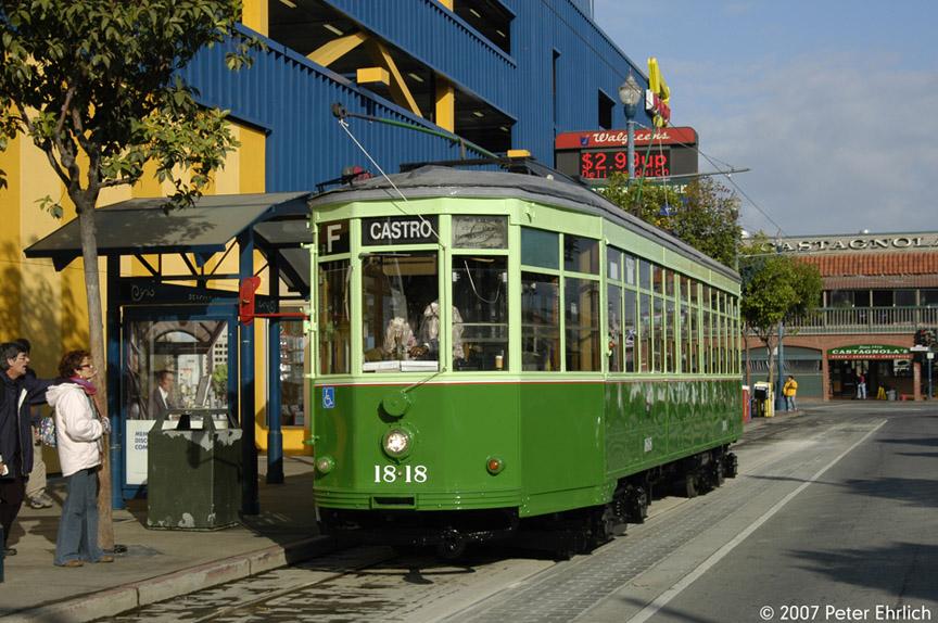 (220k, 864x574)<br><b>Country:</b> United States<br><b>City:</b> San Francisco/Bay Area, CA<br><b>System:</b> SF MUNI<br><b>Location:</b> Jones/Beach <br><b>Car:</b> Milan Milano/Peter Witt (1927-1930)  1818 <br><b>Photo by:</b> Peter Ehrlich<br><b>Date:</b> 11/9/2007<br><b>Notes:</b> Jones/Beach Terminal.<br><b>Viewed (this week/total):</b> 0 / 1421