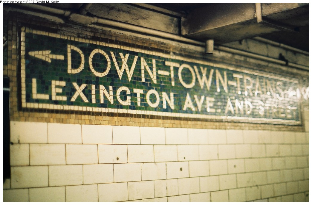 (179k, 1044x689)<br><b>Country:</b> United States<br><b>City:</b> New York<br><b>System:</b> New York City Transit<br><b>Line:</b> IRT White Plains Road Line<br><b>Location:</b> 149th Street/Grand Concourse (Mott Avenue) <br><b>Photo by:</b> David M. Kelly<br><b>Date:</b> 2007<br><b>Notes:</b> Mosaic signage.<br><b>Viewed (this week/total):</b> 0 / 2074