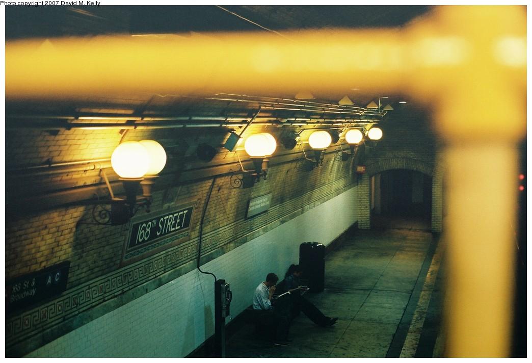(168k, 1044x712)<br><b>Country:</b> United States<br><b>City:</b> New York<br><b>System:</b> New York City Transit<br><b>Line:</b> IRT West Side Line<br><b>Location:</b> 168th Street <br><b>Photo by:</b> David M. Kelly<br><b>Date:</b> 2007<br><b>Viewed (this week/total):</b> 0 / 1473