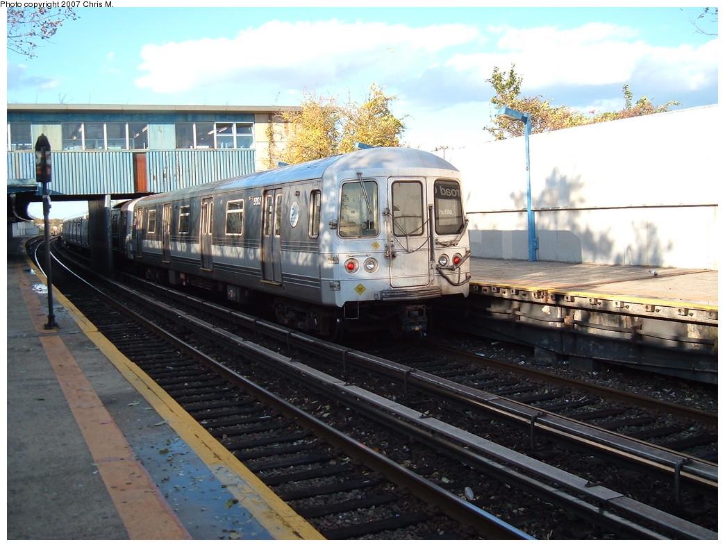 (239k, 1044x788)<br><b>Country:</b> United States<br><b>City:</b> New York<br><b>System:</b> New York City Transit<br><b>Line:</b> IND Rockaway<br><b>Location:</b> Broad Channel <br><b>Route:</b> A<br><b>Car:</b> R-44 (St. Louis, 1971-73) 5302 <br><b>Photo by:</b> Chris M.<br><b>Date:</b> 11/6/2007<br><b>Viewed (this week/total):</b> 1 / 1525