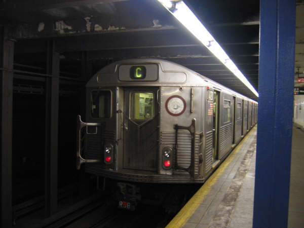 (28k, 600x450)<br><b>Country:</b> United States<br><b>City:</b> New York<br><b>System:</b> New York City Transit<br><b>Line:</b> IND 8th Avenue Line<br><b>Location:</b> 96th Street <br><b>Route:</b> C<br><b>Car:</b> R-38 (St. Louis, 1966-1967)   <br><b>Photo by:</b> Professor J<br><b>Date:</b> 10/25/2007<br><b>Viewed (this week/total):</b> 0 / 3803