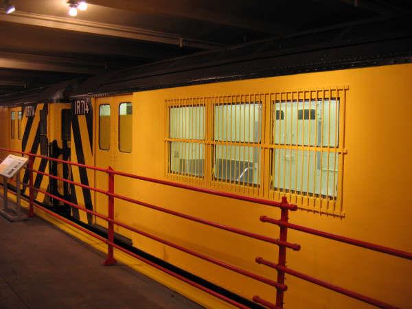 (40k, 600x450)<br><b>Country:</b> United States<br><b>City:</b> New York<br><b>System:</b> New York City Transit<br><b>Location:</b> New York Transit Museum<br><b>Car:</b> R-95 Locker Car (Revenue Train) 1R714 (ex-7422)<br><b>Photo by:</b> Professor J<br><b>Date:</b> 11/8/2007<br><b>Viewed (this week/total):</b> 2 / 2191