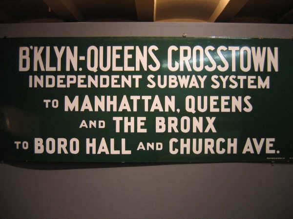 (37k, 600x450)<br><b>Country:</b> United States<br><b>City:</b> New York<br><b>System:</b> New York City Transit<br><b>Location:</b> New York Transit Museum<br><b>Photo by:</b> Professor J<br><b>Date:</b> 11/8/2007<br><b>Notes:</b> Signage collection<br><b>Viewed (this week/total):</b> 3 / 1664
