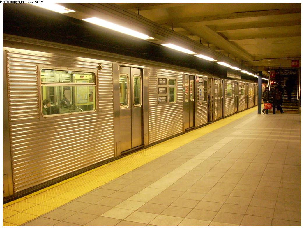(294k, 1044x788)<br><b>Country:</b> United States<br><b>City:</b> New York<br><b>System:</b> New York City Transit<br><b>Line:</b> IND Queens Boulevard Line<br><b>Location:</b> Roosevelt Avenue <br><b>Route:</b> E<br><b>Car:</b> R-32 (Budd, 1964)  3800 <br><b>Photo by:</b> Bill E.<br><b>Date:</b> 11/25/2007<br><b>Viewed (this week/total):</b> 0 / 2235