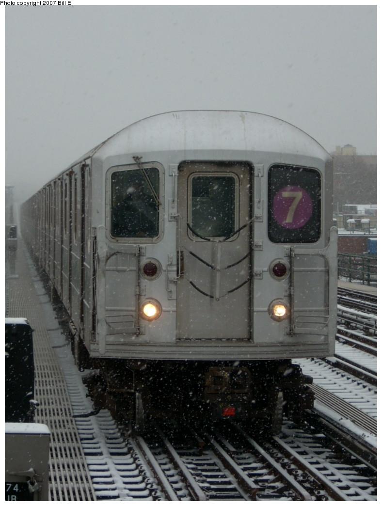 (201k, 788x1044)<br><b>Country:</b> United States<br><b>City:</b> New York<br><b>System:</b> New York City Transit<br><b>Line:</b> IRT Flushing Line<br><b>Location:</b> 74th Street/Broadway <br><b>Route:</b> 7<br><b>Car:</b> R-62A (Bombardier, 1984-1987)   <br><b>Photo by:</b> Bill E.<br><b>Date:</b> 12/2/2007<br><b>Viewed (this week/total):</b> 1 / 1611