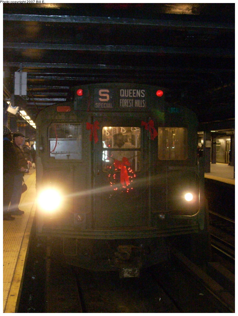 (249k, 788x1044)<br><b>Country:</b> United States<br><b>City:</b> New York<br><b>System:</b> New York City Transit<br><b>Line:</b> IND Queens Boulevard Line<br><b>Location:</b> Queens Plaza <br><b>Route:</b> Museum Train Service (V)<br><b>Car:</b> R-9 (Pressed Steel, 1940)  1802 <br><b>Photo by:</b> Bill E.<br><b>Date:</b> 12/2/2007<br><b>Viewed (this week/total):</b> 0 / 1752