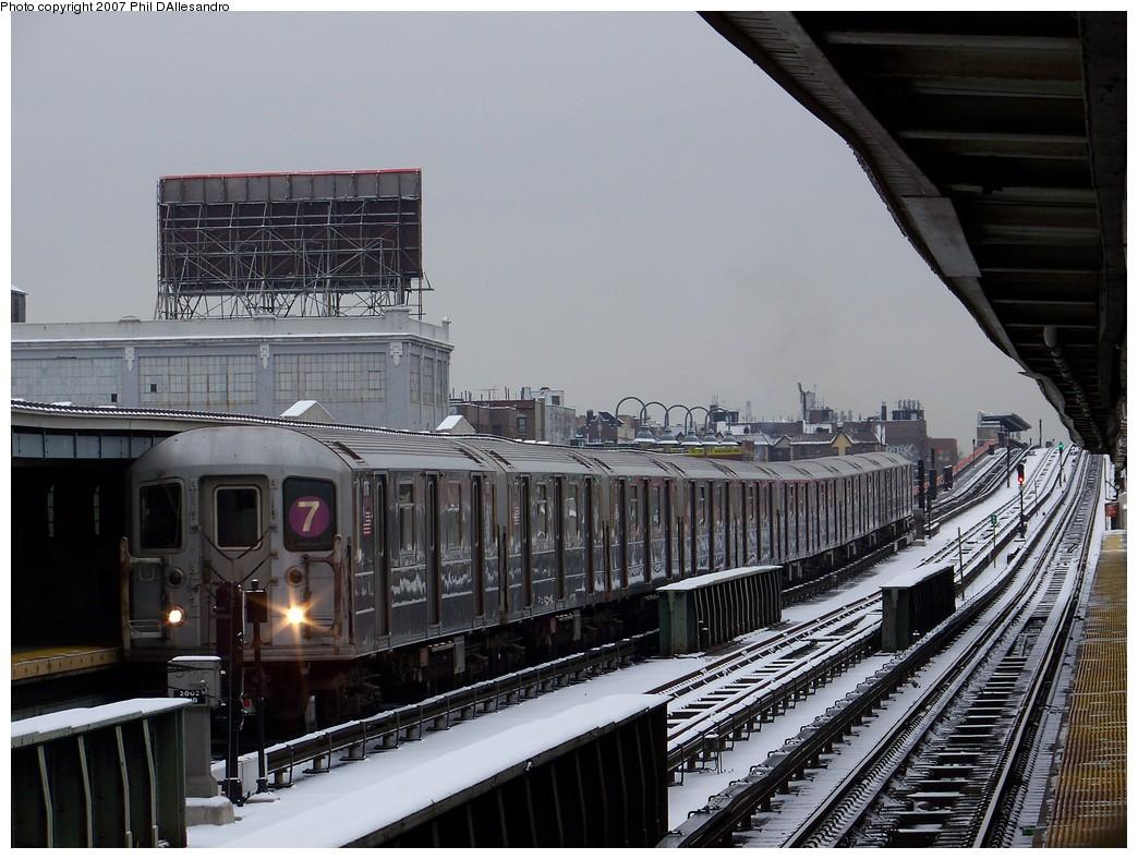 (231k, 1044x788)<br><b>Country:</b> United States<br><b>City:</b> New York<br><b>System:</b> New York City Transit<br><b>Line:</b> IRT Flushing Line<br><b>Location:</b> 33rd Street/Rawson Street <br><b>Route:</b> 7<br><b>Car:</b> R-62A (Bombardier, 1984-1987)  1776 <br><b>Photo by:</b> Philip D'Allesandro<br><b>Date:</b> 12/2/2007<br><b>Viewed (this week/total):</b> 1 / 1485