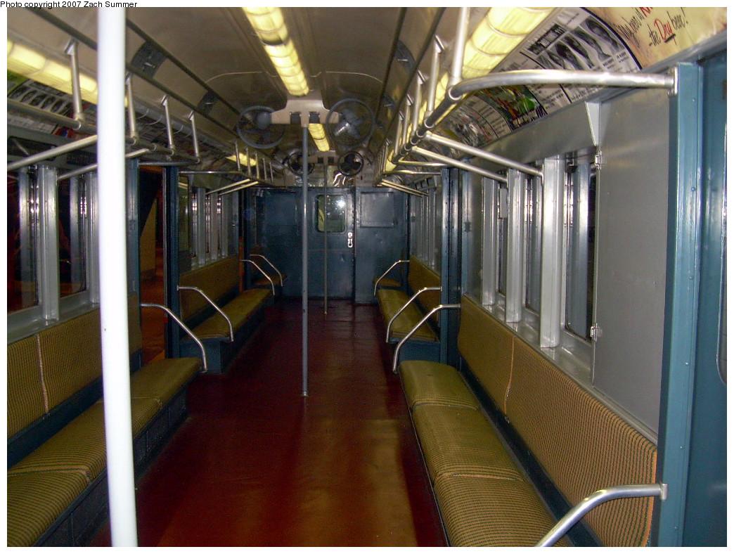 (294k, 1044x788)<br><b>Country:</b> United States<br><b>City:</b> New York<br><b>System:</b> New York City Transit<br><b>Location:</b> New York Transit Museum<br><b>Car:</b> R-12 (American Car & Foundry, 1948) 5760 <br><b>Photo by:</b> Zach Summer<br><b>Date:</b> 8/18/2007<br><b>Viewed (this week/total):</b> 1 / 1573
