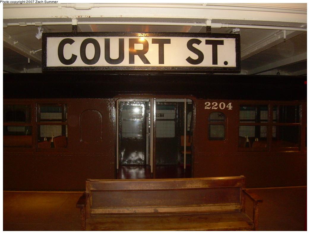 (229k, 1044x788)<br><b>Country:</b> United States<br><b>City:</b> New York<br><b>System:</b> New York City Transit<br><b>Location:</b> New York Transit Museum<br><b>Car:</b> BMT A/B-Type Standard 2204 <br><b>Photo by:</b> Zach Summer<br><b>Date:</b> 8/18/2007<br><b>Viewed (this week/total):</b> 1 / 1954