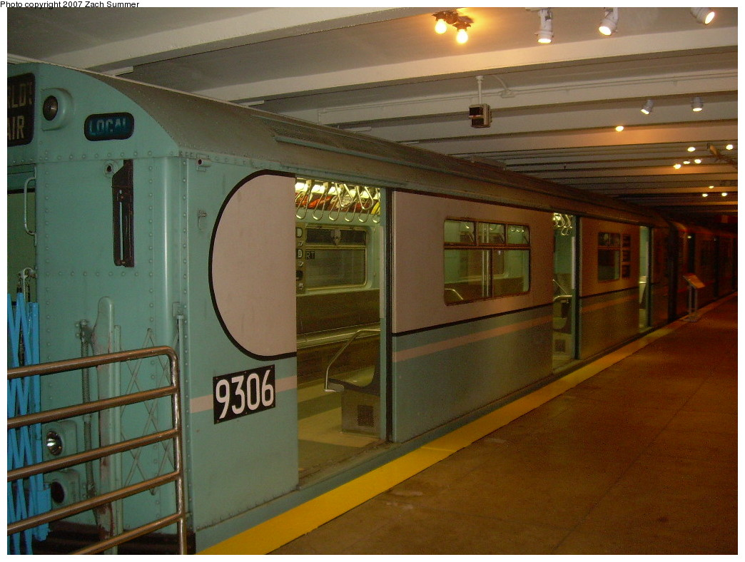 (245k, 1044x788)<br><b>Country:</b> United States<br><b>City:</b> New York<br><b>System:</b> New York City Transit<br><b>Location:</b> New York Transit Museum<br><b>Car:</b> R-33 World's Fair (St. Louis, 1963-64) 9306 <br><b>Photo by:</b> Zach Summer<br><b>Date:</b> 8/18/2007<br><b>Viewed (this week/total):</b> 3 / 1982