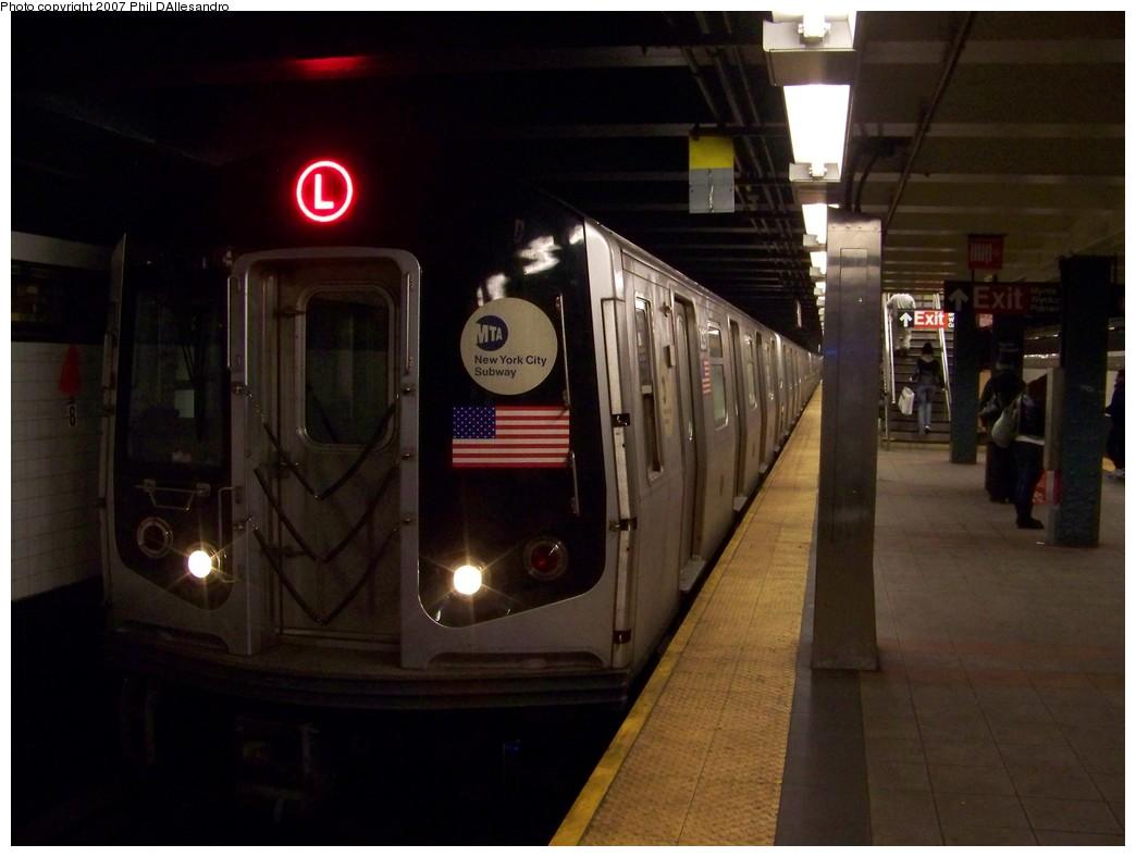 (158k, 1044x788)<br><b>Country:</b> United States<br><b>City:</b> New York<br><b>System:</b> New York City Transit<br><b>Line:</b> BMT Canarsie Line<br><b>Location:</b> Myrtle Avenue <br><b>Route:</b> L<br><b>Car:</b> R-143 (Kawasaki, 2001-2002) 8297 <br><b>Photo by:</b> Philip D'Allesandro<br><b>Date:</b> 12/8/2007<br><b>Viewed (this week/total):</b> 2 / 1987