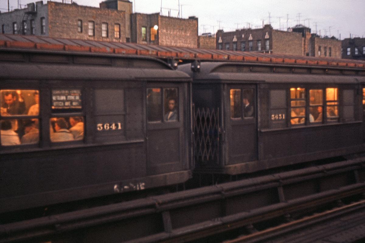 (237k, 1024x682)<br><b>Country:</b> United States<br><b>City:</b> New York<br><b>System:</b> New York City Transit<br><b>Line:</b> IRT Woodlawn Line<br><b>Location:</b> 170th Street <br><b>Car:</b> Low-V 5641/5651 <br><b>Photo by:</b> Ed Davis, Sr.<br><b>Collection of:</b> David Pirmann<br><b>Date:</b> 2/1964<br><b>Viewed (this week/total):</b> 0 / 2099