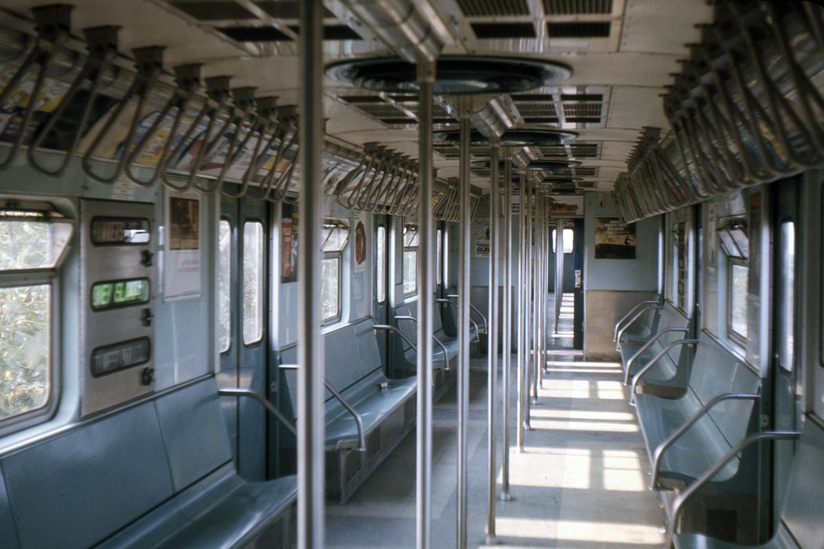 (372k, 1024x683)<br><b>Country:</b> United States<br><b>City:</b> New York<br><b>System:</b> New York City Transit<br><b>Car:</b> R-32 (Budd, 1964)  Interior <br><b>Photo by:</b> Ed Davis, Sr.<br><b>Collection of:</b> David Pirmann<br><b>Date:</b> 8/1967<br><b>Viewed (this week/total):</b> 9 / 3760
