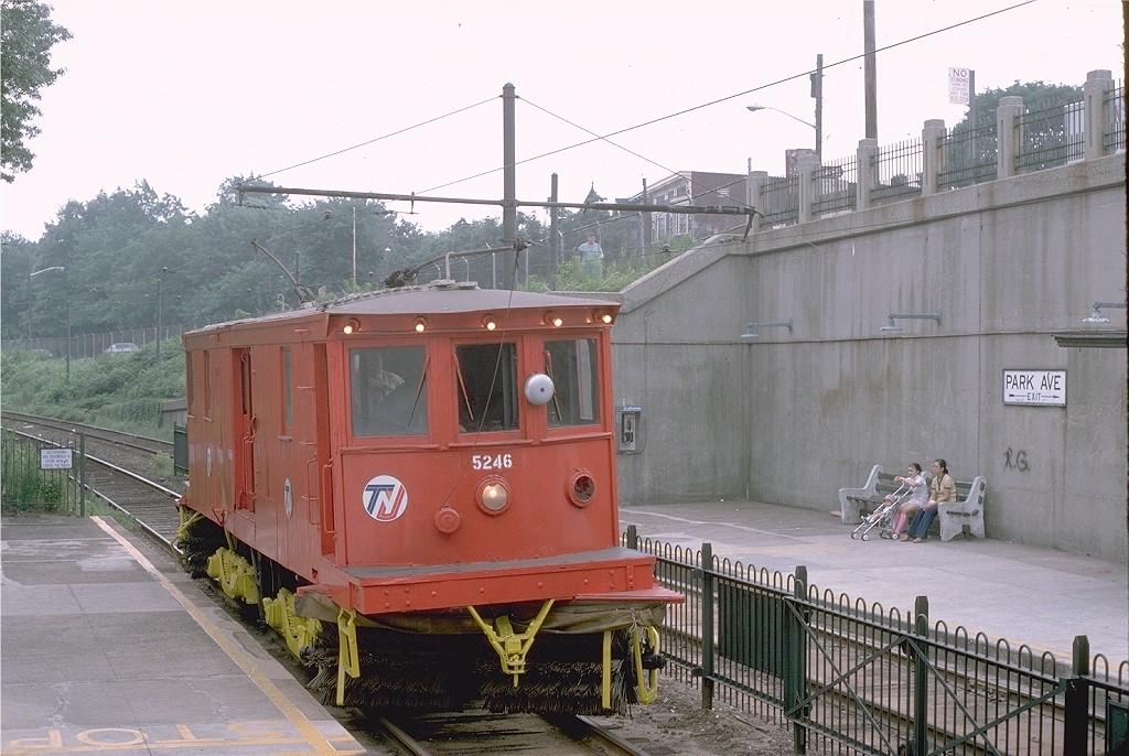 (204k, 1024x686)<br><b>Country:</b> United States<br><b>City:</b> Newark, NJ<br><b>System:</b> Newark City Subway<br><b>Location:</b> Park Avenue <br><b>Route:</b> Fan Trip<br><b>Car:</b>  5246 <br><b>Photo by:</b> Steve Zabel<br><b>Collection of:</b> Joe Testagrose<br><b>Date:</b> 7/20/1975<br><b>Viewed (this week/total):</b> 0 / 940