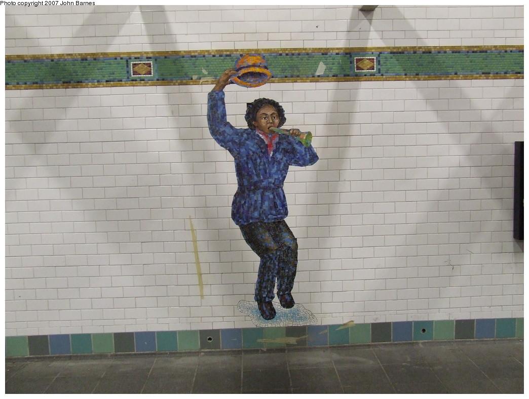 (198k, 1044x788)<br><b>Country:</b> United States<br><b>City:</b> New York<br><b>System:</b> New York City Transit<br><b>Line:</b> IRT West Side Line<br><b>Location:</b> Times Square/42nd Street <br><b>Photo by:</b> John Barnes<br><b>Date:</b> 12/22/2007<br><b>Artwork:</b> <i>The Revelers</i>, Jane Dickson (2007).<br><b>Viewed (this week/total):</b> 2 / 1156