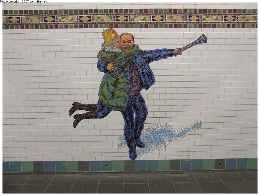 (220k, 1044x788)<br><b>Country:</b> United States<br><b>City:</b> New York<br><b>System:</b> New York City Transit<br><b>Line:</b> IRT West Side Line<br><b>Location:</b> Times Square/42nd Street <br><b>Photo by:</b> John Barnes<br><b>Date:</b> 12/22/2007<br><b>Artwork:</b> <i>The Revelers</i>, Jane Dickson (2007).<br><b>Viewed (this week/total):</b> 0 / 1195