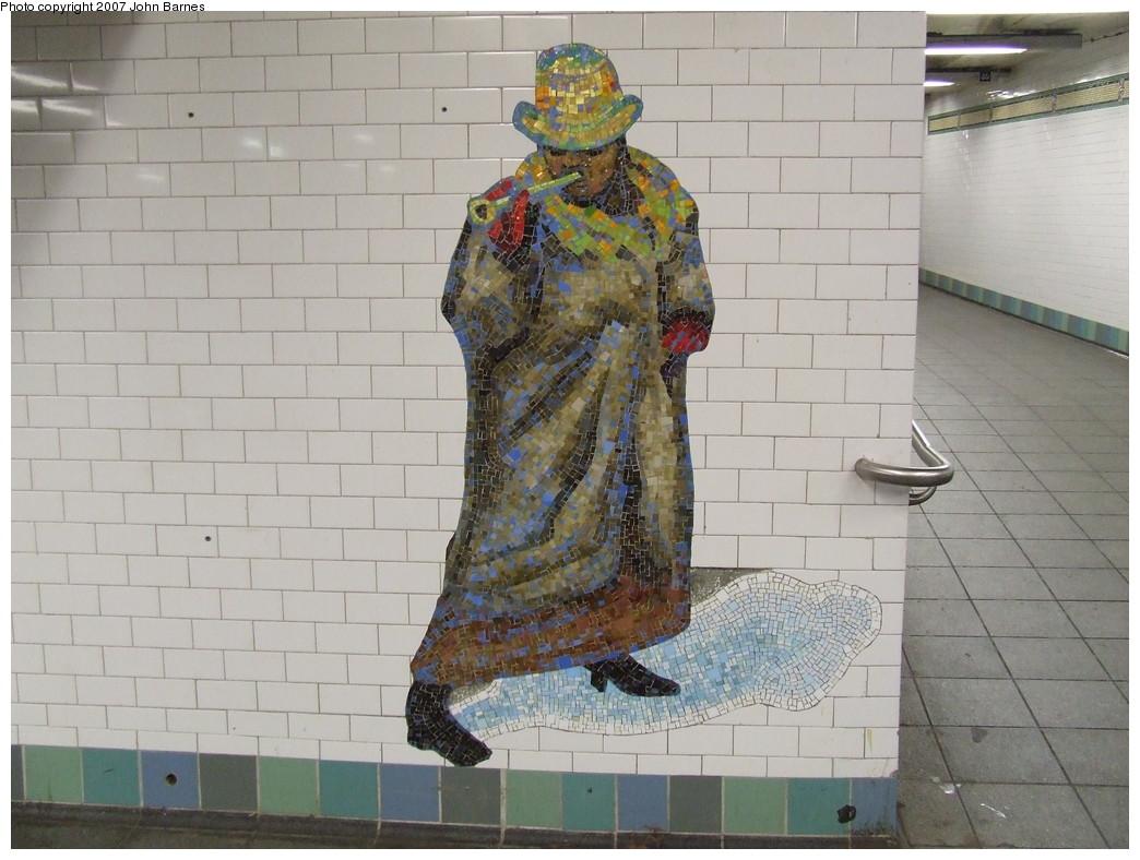 (208k, 1044x788)<br><b>Country:</b> United States<br><b>City:</b> New York<br><b>System:</b> New York City Transit<br><b>Line:</b> IRT West Side Line<br><b>Location:</b> Times Square/42nd Street <br><b>Photo by:</b> John Barnes<br><b>Date:</b> 12/22/2007<br><b>Artwork:</b> <i>The Revelers</i>, Jane Dickson (2007).<br><b>Viewed (this week/total):</b> 0 / 1141