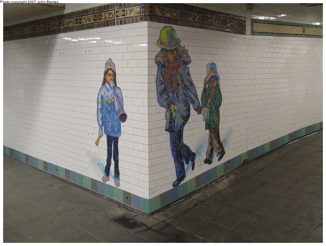 (209k, 1044x788)<br><b>Country:</b> United States<br><b>City:</b> New York<br><b>System:</b> New York City Transit<br><b>Line:</b> IRT West Side Line<br><b>Location:</b> Times Square/42nd Street <br><b>Photo by:</b> John Barnes<br><b>Date:</b> 12/22/2007<br><b>Artwork:</b> <i>The Revelers</i>, Jane Dickson (2007).<br><b>Viewed (this week/total):</b> 7 / 1250