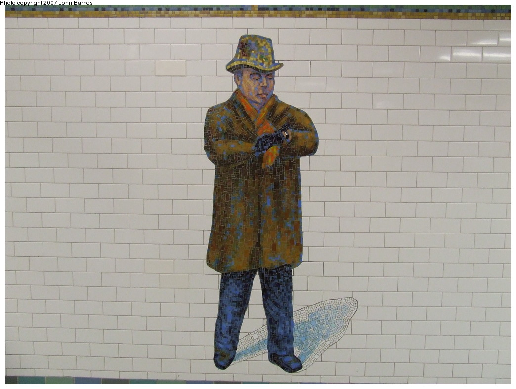 (178k, 1044x788)<br><b>Country:</b> United States<br><b>City:</b> New York<br><b>System:</b> New York City Transit<br><b>Line:</b> IRT West Side Line<br><b>Location:</b> Times Square/42nd Street <br><b>Photo by:</b> John Barnes<br><b>Date:</b> 12/27/2007<br><b>Artwork:</b> <i>The Revelers</i>, Jane Dickson (2007).<br><b>Viewed (this week/total):</b> 0 / 1301