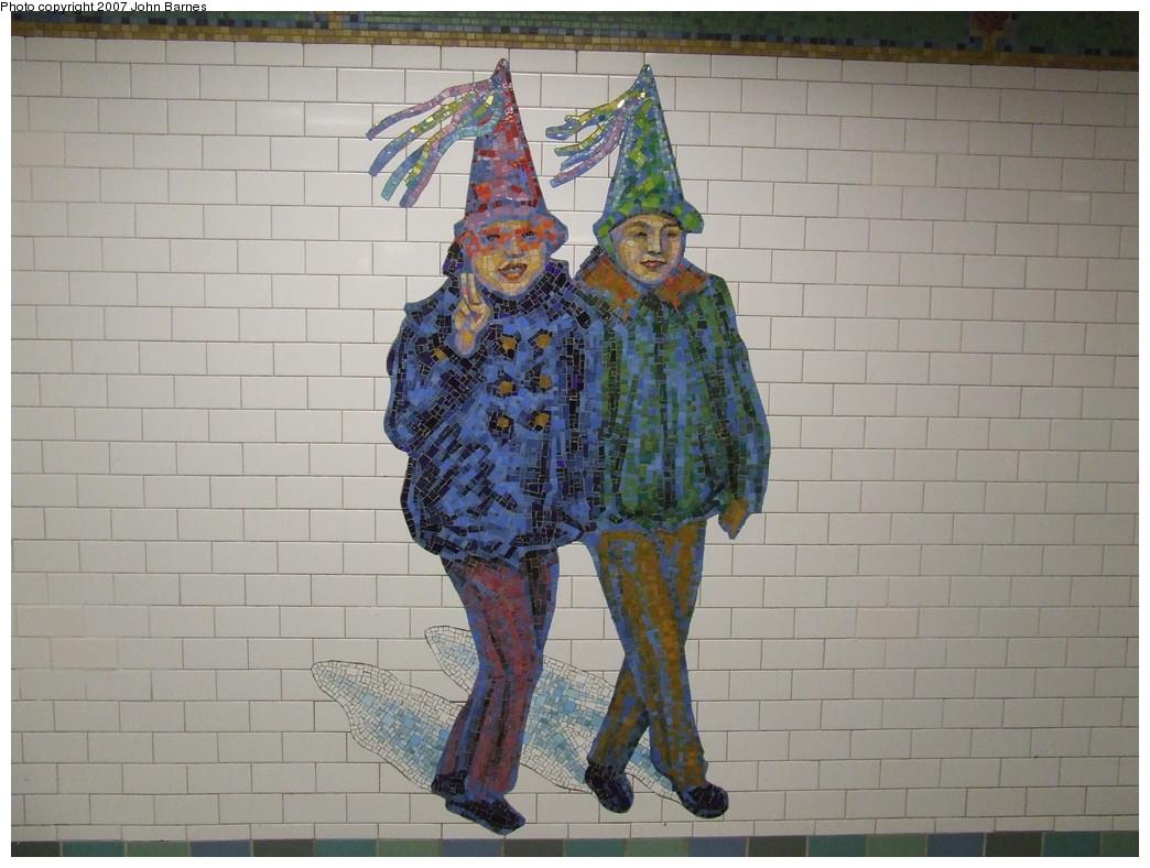 (209k, 1044x788)<br><b>Country:</b> United States<br><b>City:</b> New York<br><b>System:</b> New York City Transit<br><b>Line:</b> IRT West Side Line<br><b>Location:</b> Times Square/42nd Street <br><b>Photo by:</b> John Barnes<br><b>Date:</b> 12/27/2007<br><b>Artwork:</b> <i>The Revelers</i>, Jane Dickson (2007).<br><b>Viewed (this week/total):</b> 2 / 1455