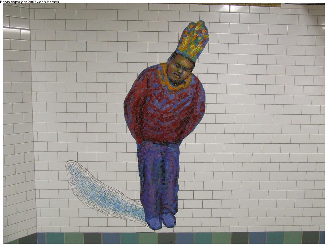 (191k, 1044x788)<br><b>Country:</b> United States<br><b>City:</b> New York<br><b>System:</b> New York City Transit<br><b>Line:</b> IRT West Side Line<br><b>Location:</b> Times Square/42nd Street <br><b>Photo by:</b> John Barnes<br><b>Date:</b> 12/27/2007<br><b>Artwork:</b> <i>The Revelers</i>, Jane Dickson (2007).<br><b>Viewed (this week/total):</b> 8 / 1402
