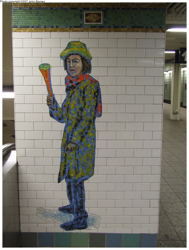 (208k, 788x1044)<br><b>Country:</b> United States<br><b>City:</b> New York<br><b>System:</b> New York City Transit<br><b>Line:</b> IRT West Side Line<br><b>Location:</b> Times Square/42nd Street <br><b>Photo by:</b> John Barnes<br><b>Date:</b> 12/27/2007<br><b>Artwork:</b> <i>The Revelers</i>, Jane Dickson (2007).<br><b>Viewed (this week/total):</b> 0 / 1448