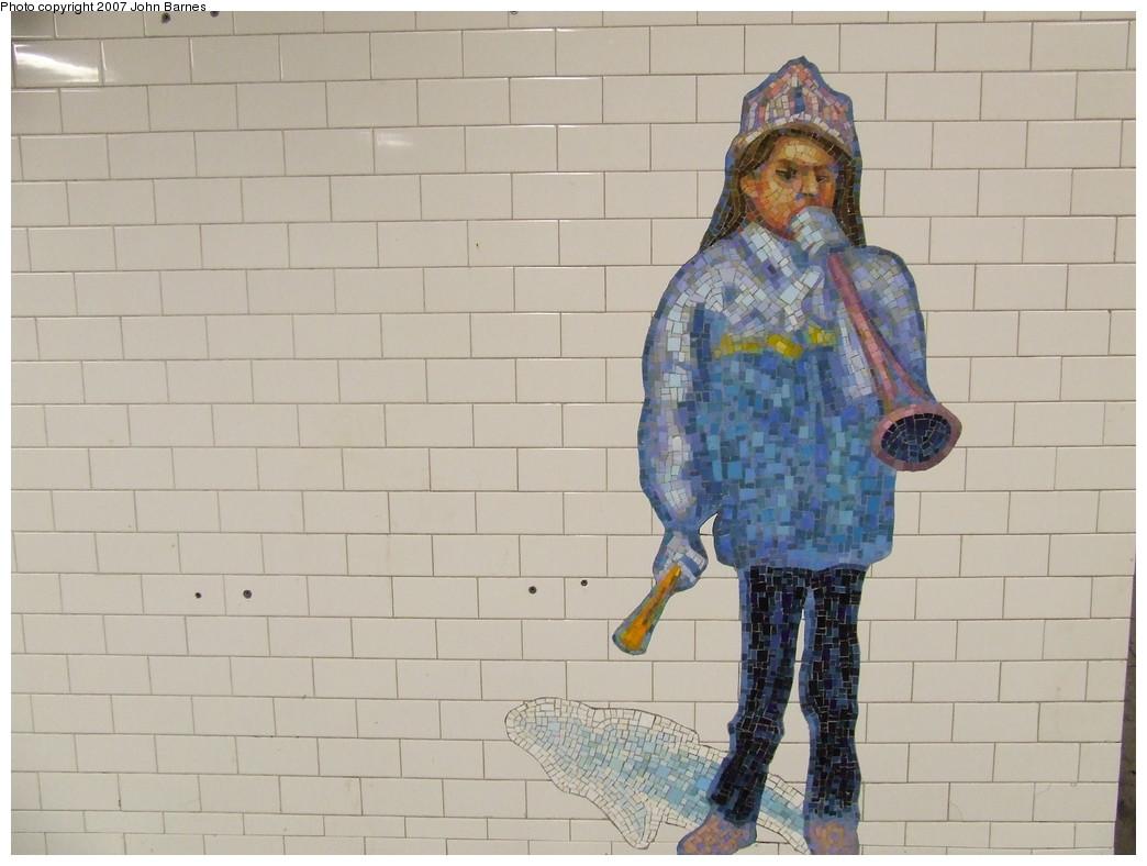 (174k, 1044x788)<br><b>Country:</b> United States<br><b>City:</b> New York<br><b>System:</b> New York City Transit<br><b>Line:</b> IRT West Side Line<br><b>Location:</b> Times Square/42nd Street <br><b>Photo by:</b> John Barnes<br><b>Date:</b> 12/27/2007<br><b>Artwork:</b> <i>The Revelers</i>, Jane Dickson (2007).<br><b>Viewed (this week/total):</b> 5 / 1193