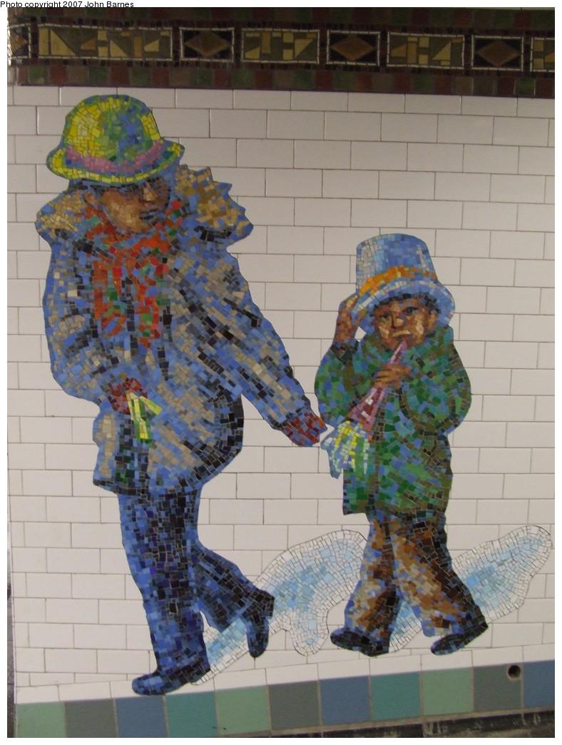 (217k, 788x1044)<br><b>Country:</b> United States<br><b>City:</b> New York<br><b>System:</b> New York City Transit<br><b>Line:</b> IRT West Side Line<br><b>Location:</b> Times Square/42nd Street <br><b>Photo by:</b> John Barnes<br><b>Date:</b> 12/27/2007<br><b>Artwork:</b> <i>The Revelers</i>, Jane Dickson (2007).<br><b>Viewed (this week/total):</b> 2 / 1363