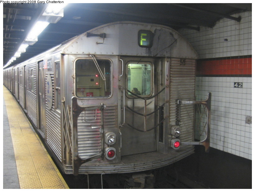 (122k, 820x620)<br><b>Country:</b> United States<br><b>City:</b> New York<br><b>System:</b> New York City Transit<br><b>Line:</b> IND 6th Avenue Line<br><b>Location:</b> 42nd Street/Bryant Park <br><b>Route:</b> F<br><b>Car:</b> R-32 (Budd, 1964)  3378 <br><b>Photo by:</b> Gary Chatterton<br><b>Date:</b> 12/27/2007<br><b>Viewed (this week/total):</b> 2 / 2717