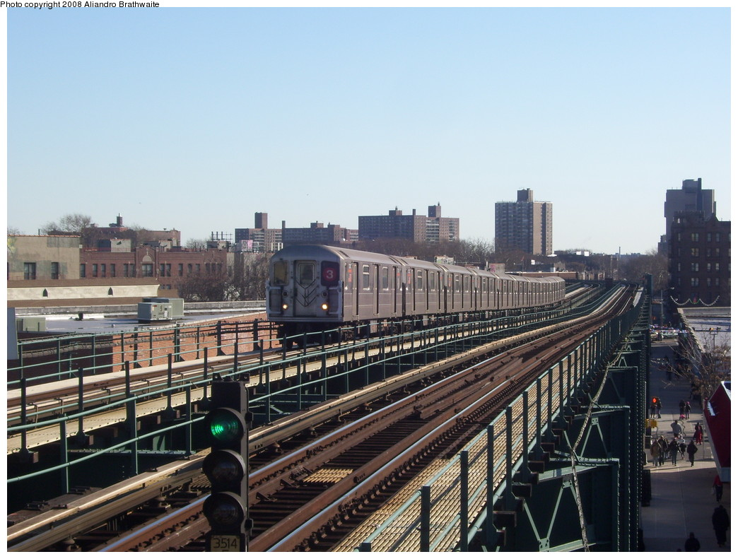 (237k, 1044x791)<br><b>Country:</b> United States<br><b>City:</b> New York<br><b>System:</b> New York City Transit<br><b>Line:</b> IRT Brooklyn Line<br><b>Location:</b> Sutter Avenue/Rutland Road <br><b>Route:</b> 3<br><b>Car:</b> R-62 (Kawasaki, 1983-1985)  1600 <br><b>Photo by:</b> Aliandro Brathwaite<br><b>Date:</b> 12/24/2007<br><b>Viewed (this week/total):</b> 1 / 3191