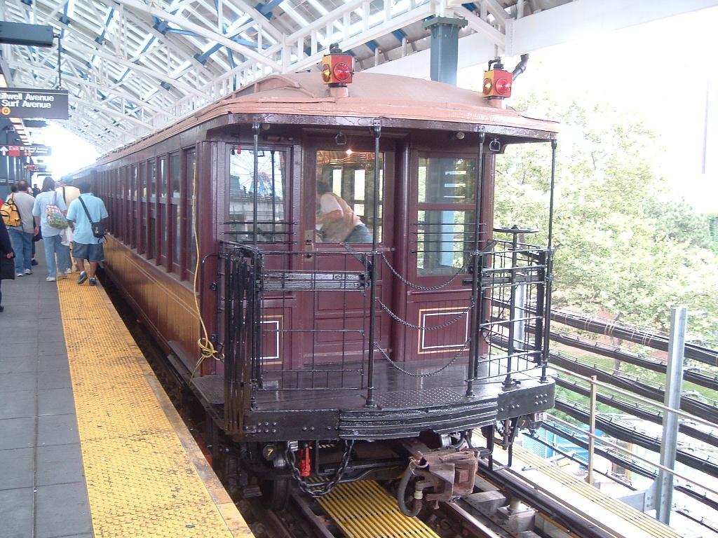 (175k, 1024x768)<br><b>Country:</b> United States<br><b>City:</b> New York<br><b>System:</b> New York City Transit<br><b>Location:</b> Coney Island/Stillwell Avenue<br><b>Route:</b> Fan Trip<br><b>Car:</b> BMT Elevated Gate Car 1407 <br><b>Photo by:</b> Chris Reidy<br><b>Date:</b> 7/18/2004<br><b>Viewed (this week/total):</b> 4 / 1382