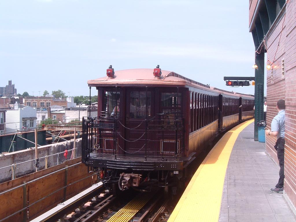 (119k, 1024x768)<br><b>Country:</b> United States<br><b>City:</b> New York<br><b>System:</b> New York City Transit<br><b>Location:</b> Coney Island/Stillwell Avenue<br><b>Route:</b> Fan Trip<br><b>Car:</b> BMT Elevated Gate Car 1407 <br><b>Photo by:</b> Chris Reidy<br><b>Date:</b> 7/25/2004<br><b>Viewed (this week/total):</b> 0 / 1419