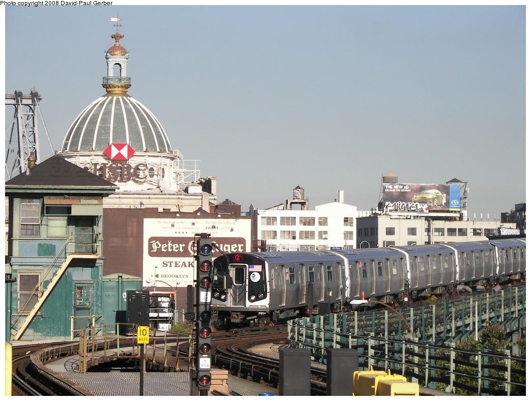 (294k, 1044x788)<br><b>Country:</b> United States<br><b>City:</b> New York<br><b>System:</b> New York City Transit<br><b>Line:</b> BMT Nassau Street/Jamaica Line<br><b>Location:</b> Marcy Avenue <br><b>Route:</b> Z<br><b>Car:</b> R-160A-1 (Alstom, 2005-2008, 4 car sets)   <br><b>Photo by:</b> David-Paul Gerber<br><b>Date:</b> 9/19/2007<br><b>Viewed (this week/total):</b> 0 / 2198