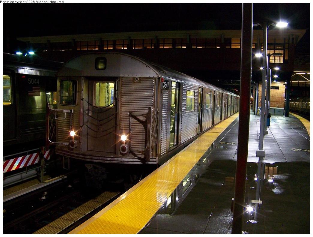 (227k, 1044x790)<br><b>Country:</b> United States<br><b>City:</b> New York<br><b>System:</b> New York City Transit<br><b>Location:</b> Coney Island/Stillwell Avenue<br><b>Route:</b> F<br><b>Car:</b> R-32 (Budd, 1964)  3847 <br><b>Photo by:</b> Michael Hodurski<br><b>Date:</b> 10/11/2007<br><b>Viewed (this week/total):</b> 0 / 1764