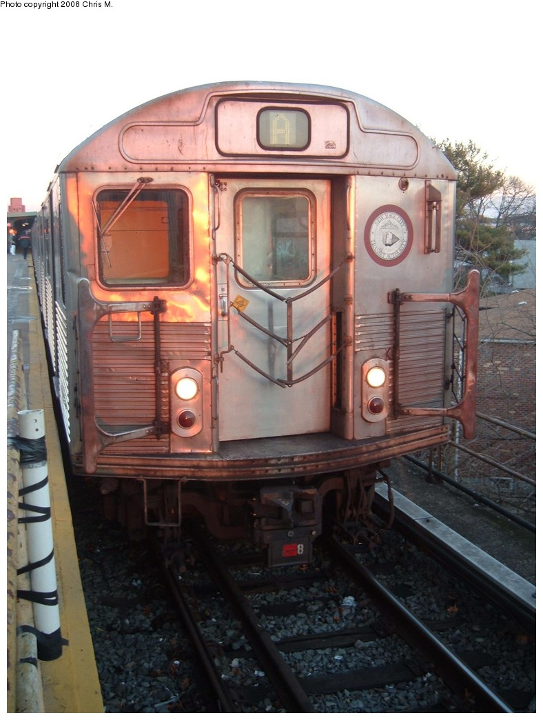 (192k, 788x1044)<br><b>Country:</b> United States<br><b>City:</b> New York<br><b>System:</b> New York City Transit<br><b>Line:</b> IND Rockaway<br><b>Location:</b> Mott Avenue/Far Rockaway <br><b>Route:</b> A<br><b>Car:</b> R-38 (St. Louis, 1966-1967)   <br><b>Photo by:</b> Chris M.<br><b>Date:</b> 1/1/2008<br><b>Viewed (this week/total):</b> 0 / 1436