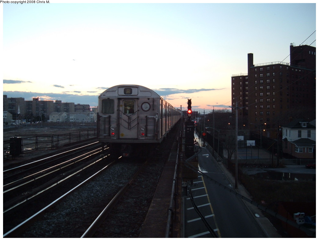 (150k, 1044x788)<br><b>Country:</b> United States<br><b>City:</b> New York<br><b>System:</b> New York City Transit<br><b>Line:</b> IND Rockaway<br><b>Location:</b> Beach 67th Street/Gaston Avenue <br><b>Route:</b> A<br><b>Car:</b> R-38 (St. Louis, 1966-1967)  4011 <br><b>Photo by:</b> Chris M.<br><b>Date:</b> 1/1/2008<br><b>Viewed (this week/total):</b> 0 / 1754