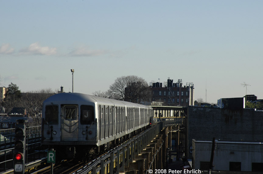 (124k, 864x572)<br><b>Country:</b> United States<br><b>City:</b> New York<br><b>System:</b> New York City Transit<br><b>Line:</b> BMT Nassau Street/Jamaica Line<br><b>Location:</b> Cypress Hills <br><b>Route:</b> J<br><b>Car:</b> R-42 (St. Louis, 1969-1970)  4810 <br><b>Photo by:</b> Peter Ehrlich<br><b>Date:</b> 1/3/2008<br><b>Notes:</b> Leaving Cypress Hills outbound, trailing view.<br><b>Viewed (this week/total):</b> 0 / 1585