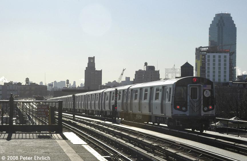 (149k, 864x565)<br><b>Country:</b> United States<br><b>City:</b> New York<br><b>System:</b> New York City Transit<br><b>Line:</b> BMT Astoria Line<br><b>Location:</b> 36th/Washington Aves. <br><b>Route:</b> N<br><b>Car:</b> R-160B (Kawasaki, 2005-2008)  8857 <br><b>Photo by:</b> Peter Ehrlich<br><b>Date:</b> 1/3/2008<br><b>Notes:</b> Leaving 36th Avenue inbound.<br><b>Viewed (this week/total):</b> 2 / 2314