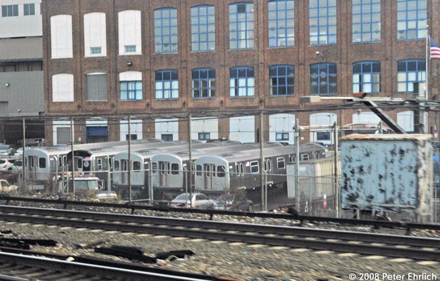 (686k, 864x552)<br><b>Country:</b> United States<br><b>City:</b> New York<br><b>System:</b> New York City Transit<br><b>Location:</b> Kawasaki Plant, Yonkers, NY<br><b>Car:</b> R-160B (Kawasaki, 2005-2008)   <br><b>Photo by:</b> Peter Ehrlich<br><b>Date:</b> 1/10/2008<br><b>Notes:</b> New R160s prior to final assembly at Kawasaki Railcar, Yonkers.<br><b>Viewed (this week/total):</b> 0 / 2161