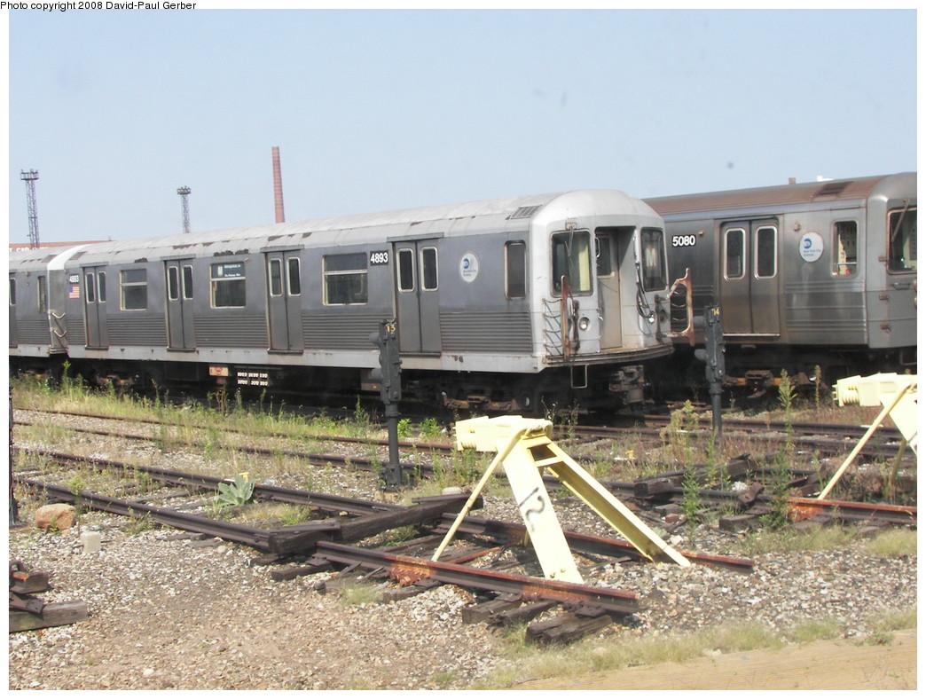 (295k, 1044x788)<br><b>Country:</b> United States<br><b>City:</b> New York<br><b>System:</b> New York City Transit<br><b>Location:</b> Coney Island Yard<br><b>Car:</b> R-42 (St. Louis, 1969-1970)  4893 <br><b>Photo by:</b> David-Paul Gerber<br><b>Date:</b> 9/8/2007<br><b>Viewed (this week/total):</b> 0 / 1252