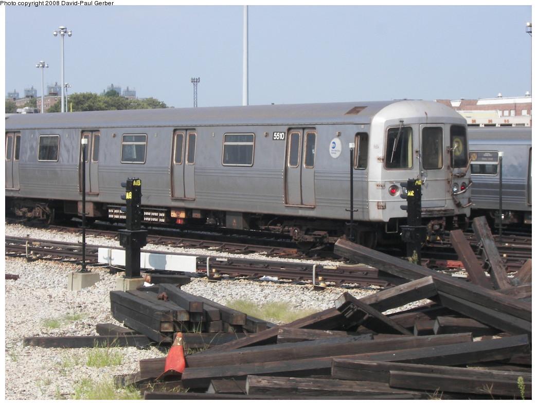 (260k, 1044x788)<br><b>Country:</b> United States<br><b>City:</b> New York<br><b>System:</b> New York City Transit<br><b>Location:</b> Coney Island Yard<br><b>Car:</b> R-46 (Pullman-Standard, 1974-75) 5510 <br><b>Photo by:</b> David-Paul Gerber<br><b>Date:</b> 9/8/2007<br><b>Viewed (this week/total):</b> 0 / 1691