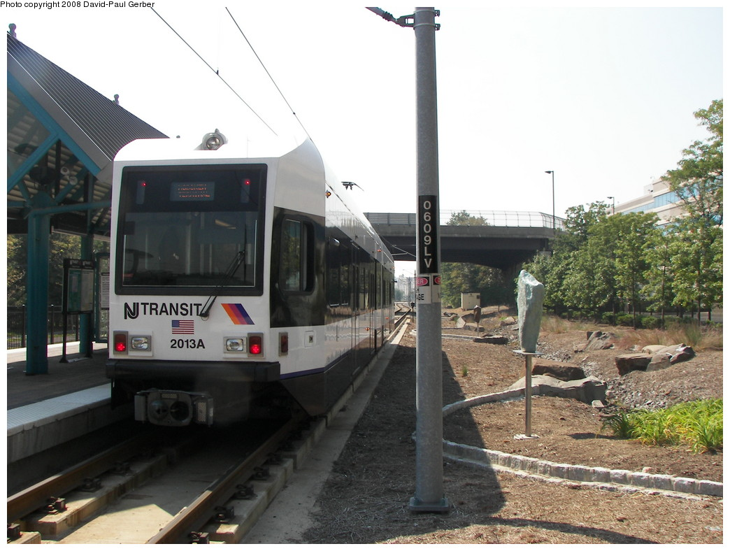 (268k, 1044x788)<br><b>Country:</b> United States<br><b>City:</b> Weehawken, NJ<br><b>System:</b> Hudson Bergen Light Rail<br><b>Location:</b> Lincoln Harbor <br><b>Car:</b> NJT-HBLR LRV (Kinki-Sharyo, 1998-99)  2013 <br><b>Photo by:</b> David-Paul Gerber<br><b>Date:</b> 9/21/2007<br><b>Viewed (this week/total):</b> 0 / 868