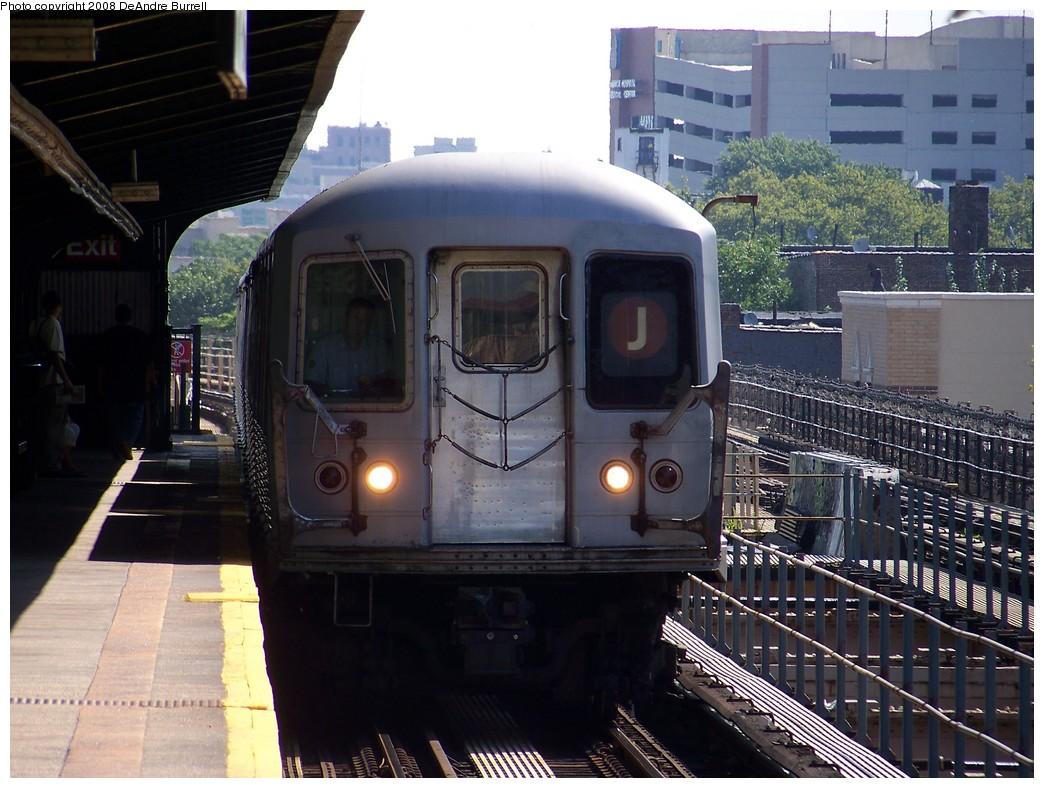 (230k, 1044x788)<br><b>Country:</b> United States<br><b>City:</b> New York<br><b>System:</b> New York City Transit<br><b>Line:</b> BMT Nassau Street/Jamaica Line<br><b>Location:</b> 121st Street <br><b>Route:</b> J<br><b>Car:</b> R-42 (St. Louis, 1969-1970)  4801 <br><b>Photo by:</b> DeAndre Burrell<br><b>Date:</b> 8/9/2007<br><b>Viewed (this week/total):</b> 0 / 2818