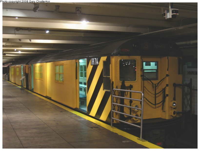 (102k, 820x620)<br><b>Country:</b> United States<br><b>City:</b> New York<br><b>System:</b> New York City Transit<br><b>Location:</b> New York Transit Museum<br><b>Car:</b> R-95 Locker Car (Revenue Train) 1R714 (ex-7422)<br><b>Photo by:</b> Gary Chatterton<br><b>Date:</b> 1/10/2008<br><b>Viewed (this week/total):</b> 17 / 3834