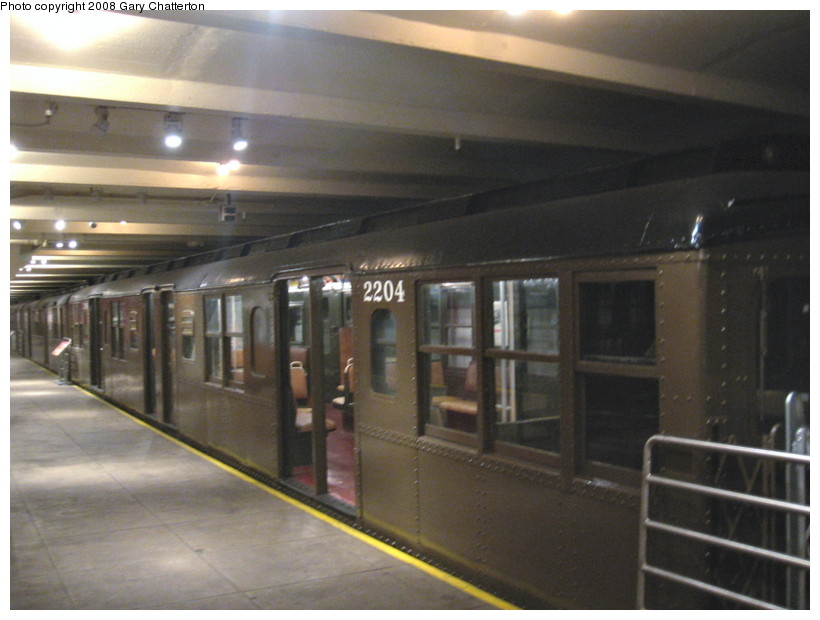 (111k, 820x620)<br><b>Country:</b> United States<br><b>City:</b> New York<br><b>System:</b> New York City Transit<br><b>Location:</b> New York Transit Museum<br><b>Car:</b> BMT A/B-Type Standard 2204 <br><b>Photo by:</b> Gary Chatterton<br><b>Date:</b> 1/10/2008<br><b>Viewed (this week/total):</b> 5 / 3358